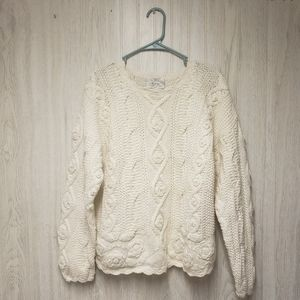 HOST PICK♡ Vintage 80s Handknit Embroidery Sweater